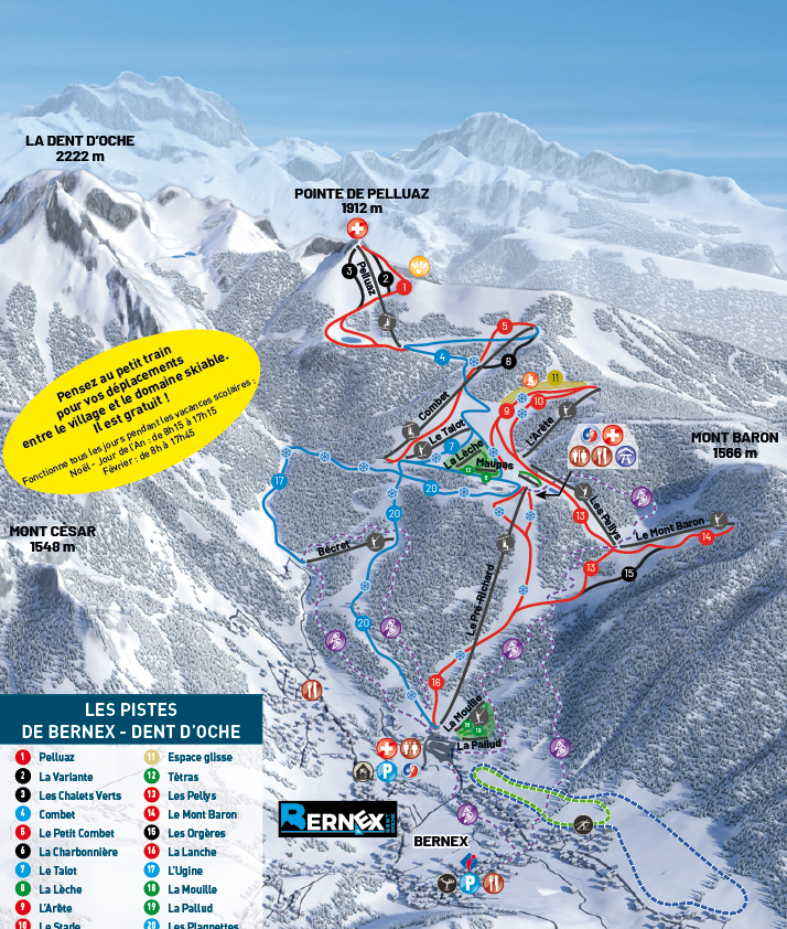Bernex Piste / Trail Map