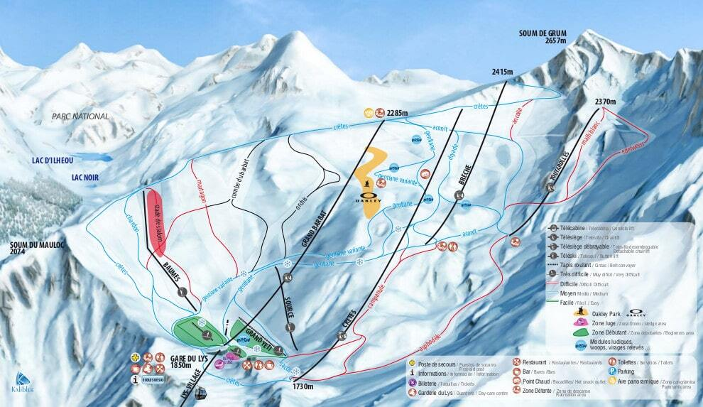 Cauterets Piste / Trail Map