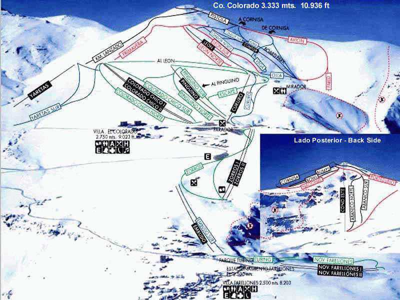 El Colorado Piste / Trail Map