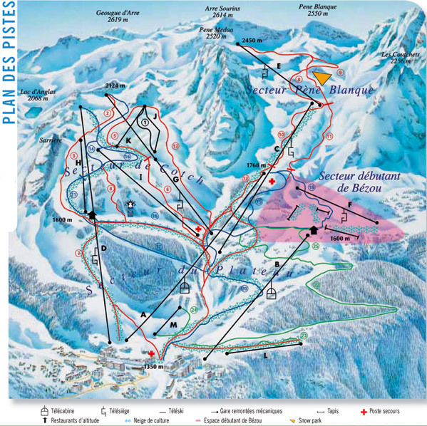 Gourette Piste / Trail Map