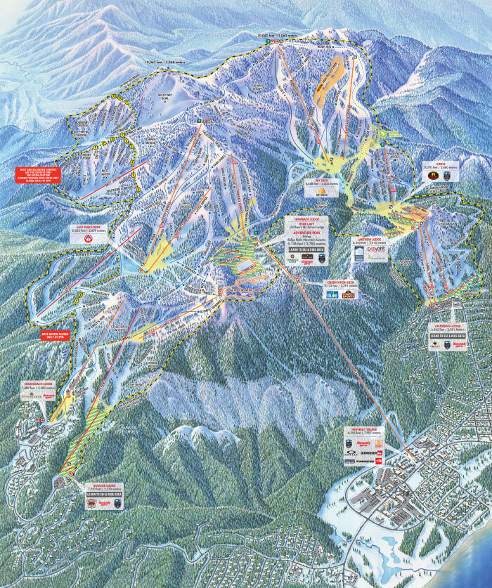 Heavenly Piste / Trail Map