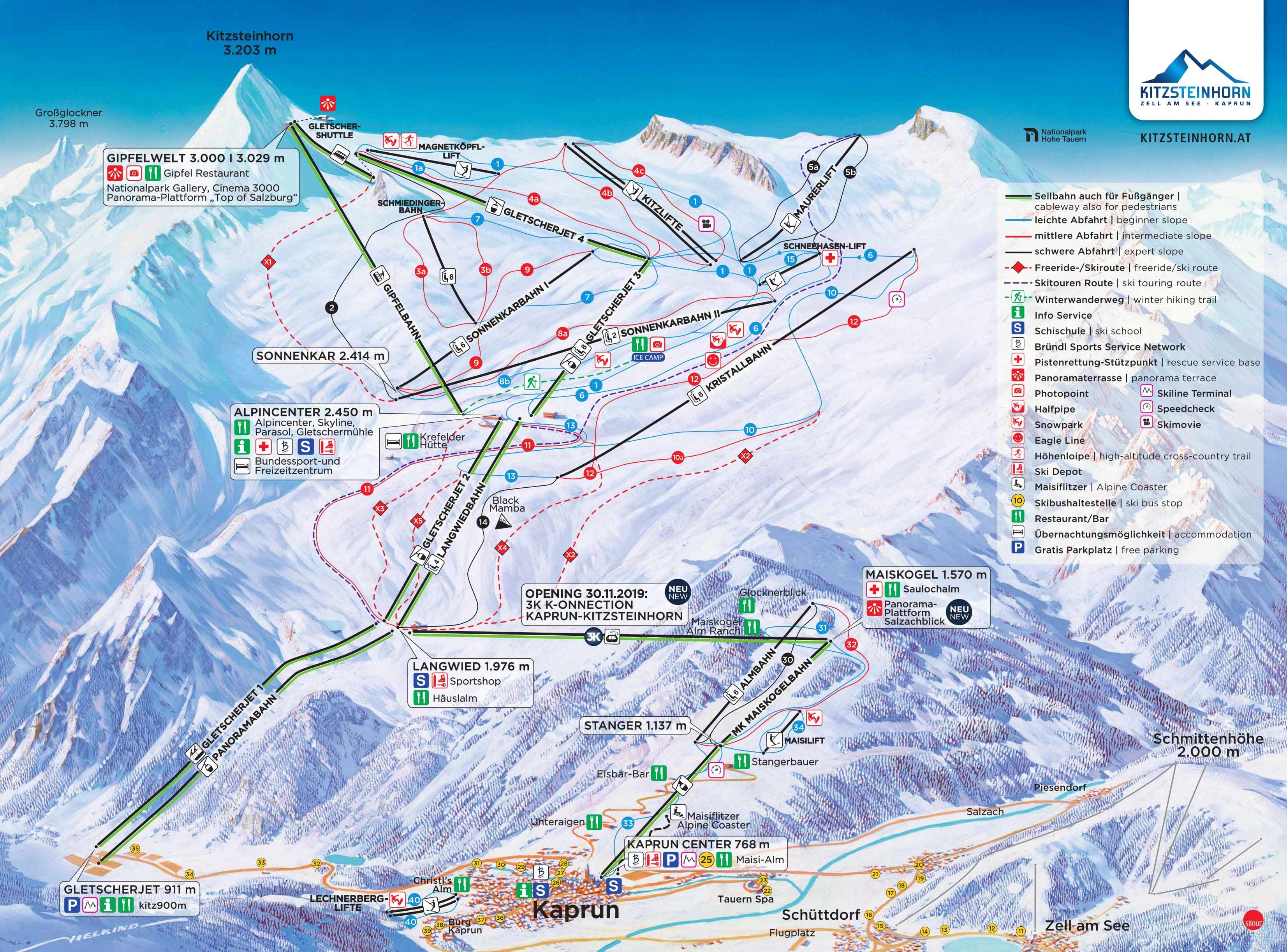 Kaprun Piste / Trail Map