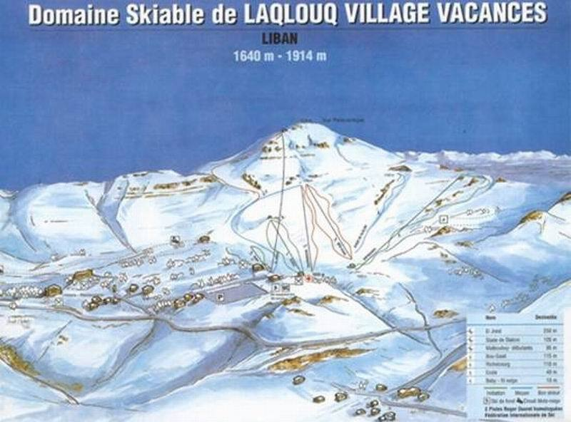Laqlouq Piste / Trail Map