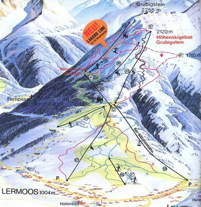 Lermoos Piste / Trail Map