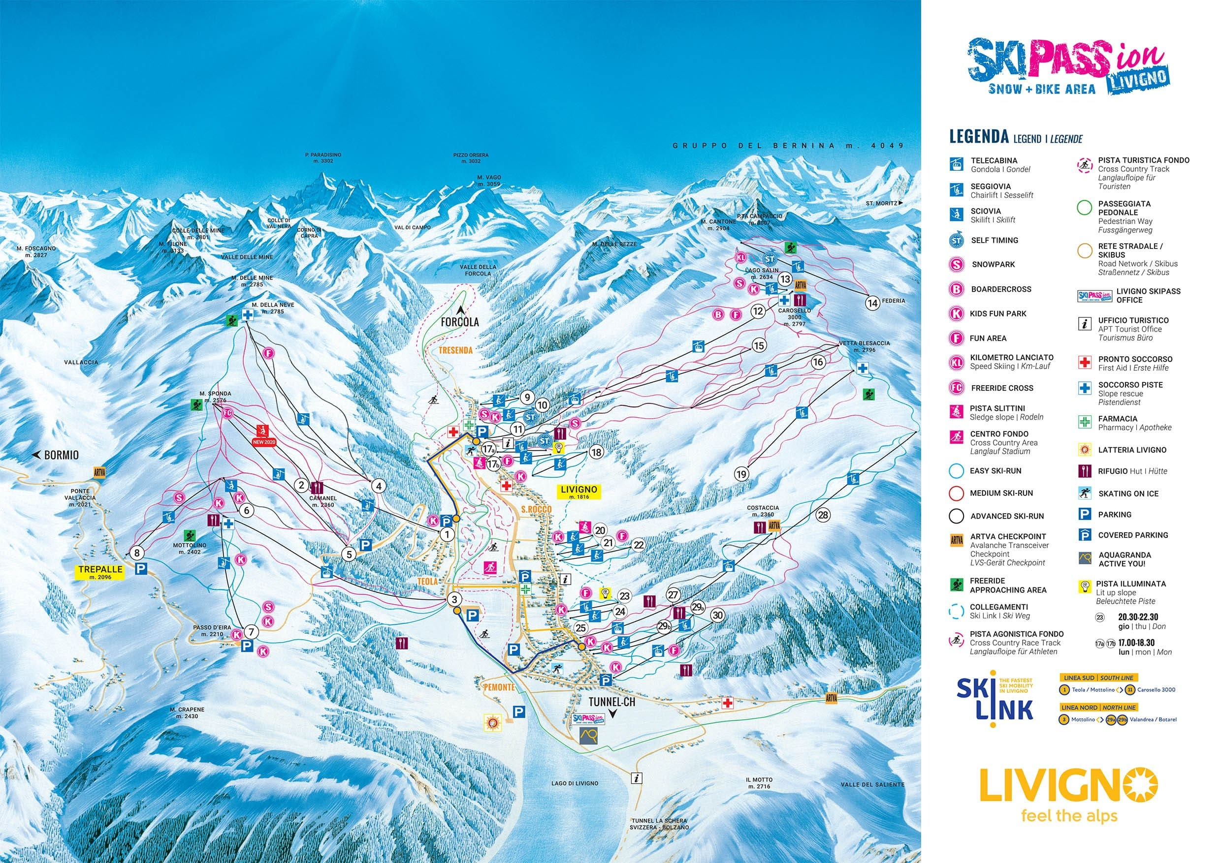 Livigno Piste / Trail Map