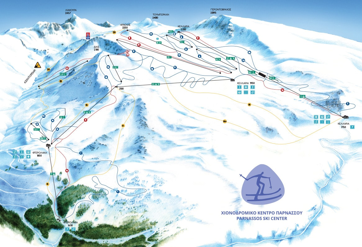 Mount Parnassos Piste / Trail Map