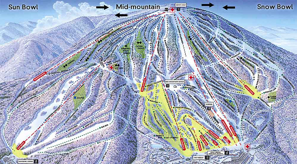 Stratton Mountain Piste / Trail Map