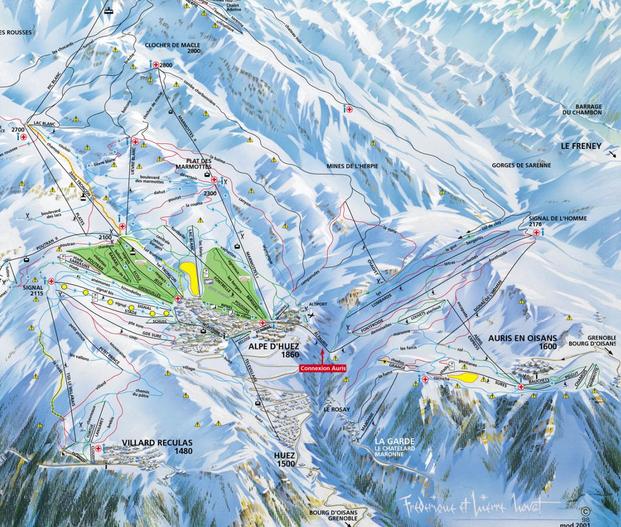 Auris En Oisans Piste / Trail Map