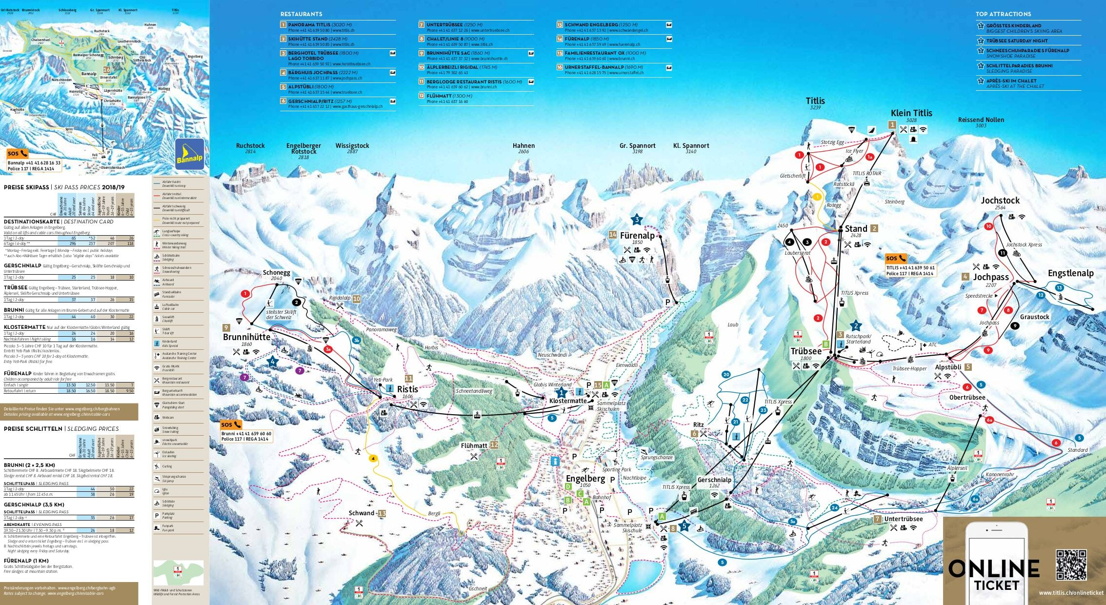 Engelberg Piste / Trail Map