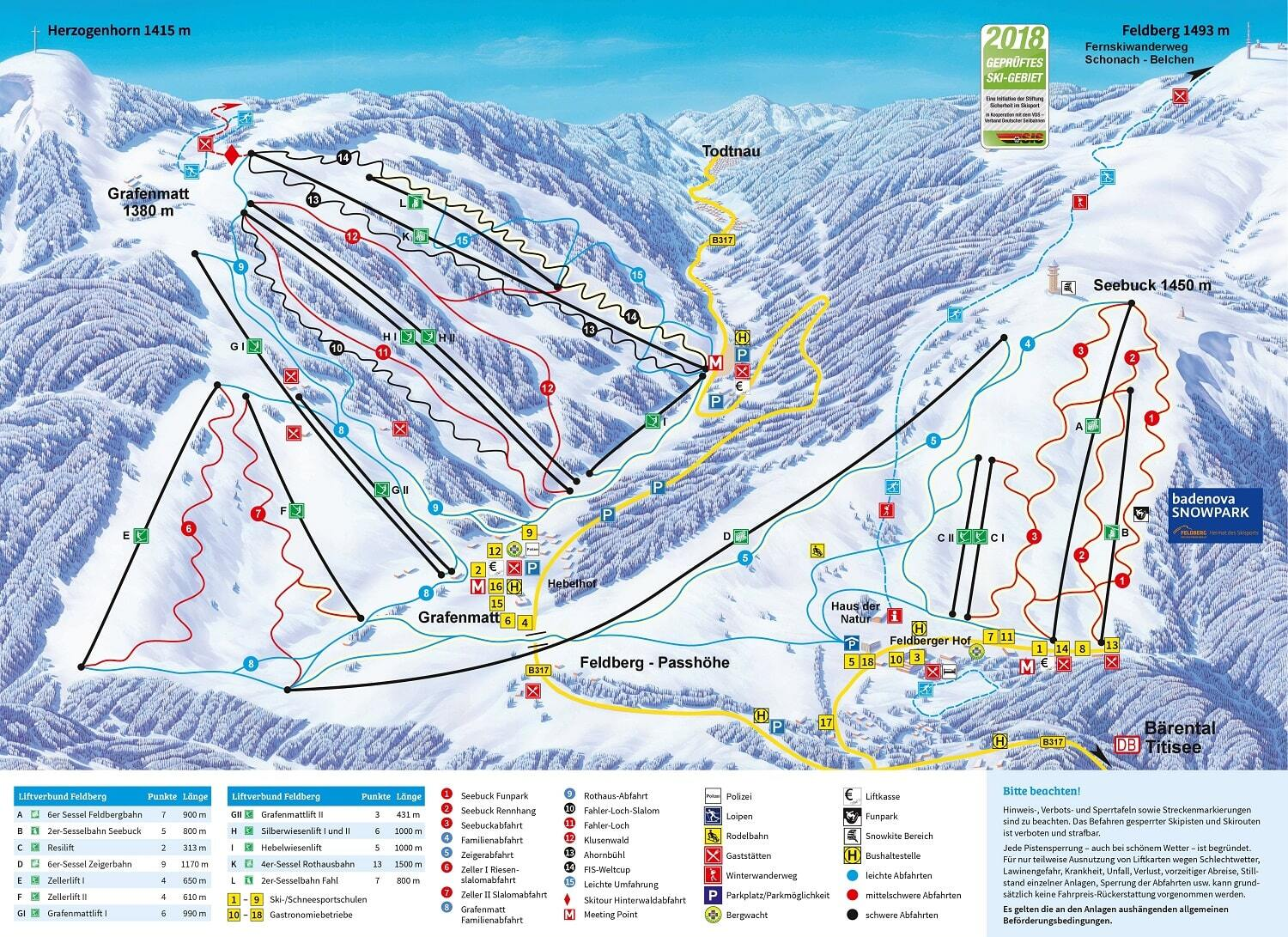 Feldberg Piste / Trail Map