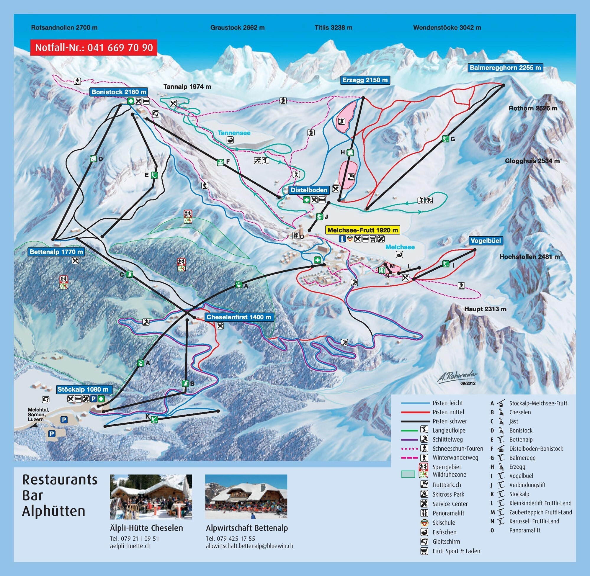 Melchsee-Frutt Piste / Trail Map