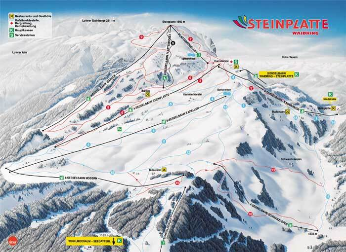 Waidring Piste / Trail Map